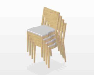 4 Kirchenstühle stapelbar